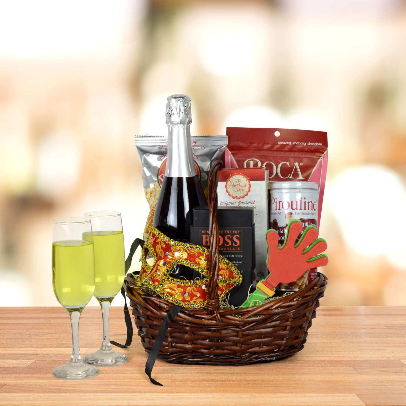 """""""Purim Some More Champagne"""" Gift Basket · """""""