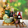Holiday Champagne & Cheese Ball Gift Basket, champagne gift baskets, Christmas gift baskets