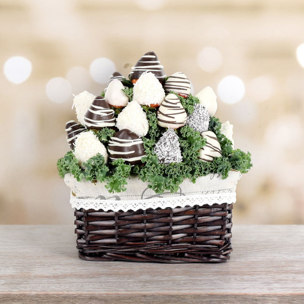 Chocolate Dipped Strawberries Basket Gift Baskets Usa Delivery Hazelton S Usa