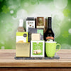 St. Patrick's Deluxe Irish Coffee Gift Basket, liquor gift baskets, gourmet gift baskets, St. Patrick's Day gift baskets