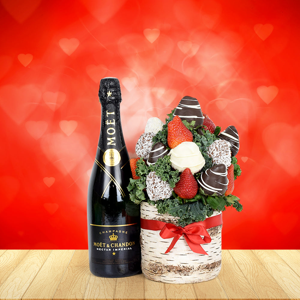 Chocolate Dipped Strawberries Champagne Vase Champagne Gift Baskets Usa Delivery Hazelton S Usa