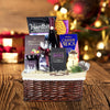 Winter Treats Gift Basket With Wine