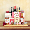 Romance in Italy Gift Basket, wine gift baskets, gourmet gift baskets, Valentine's Day gifts, gift baskets, romance