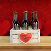 Say It with Beer Valentine's Day Gift Crate, beer gift crates, gourmet gift crates, Valentine's Day gifts, gift baskets, romance