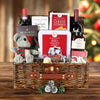 Christmas Cheer Picnic Basket, wine gift baskets, Christmas gift baskets