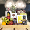 Delightful Fruit & Snack Basket with Wine, wine gift baskets, gourmet gift baskets