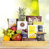 Delightful Fruit & Snack Basket, gourmet gift baskets