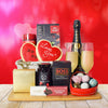 Champagne & Chocolate for 2 Gift Basket, champagne gift baskets, gourmet gift baskets, gift baskets, Valentine's Day gift baskets