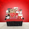 Love & Chocolate Gift Basket, gourmet gift baskets, gift baskets, Valentine's Day gift baskets, romantic gift baskets