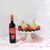 Strawberries & Dipped Pears Gift Set with Wine