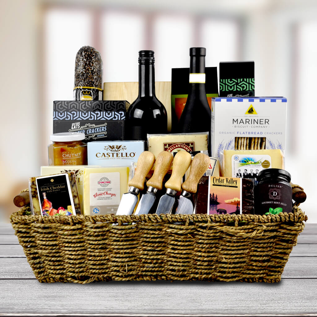 The Fifth Avenue Wine Cheese Gift Basket