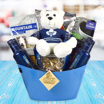 father s day gift baskets toronto hockey dad gift basket