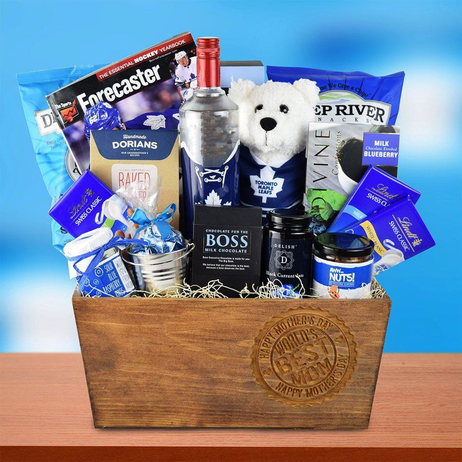 Sports gift baskets hazeltons usa hockey moms gift basket negle Choice Image