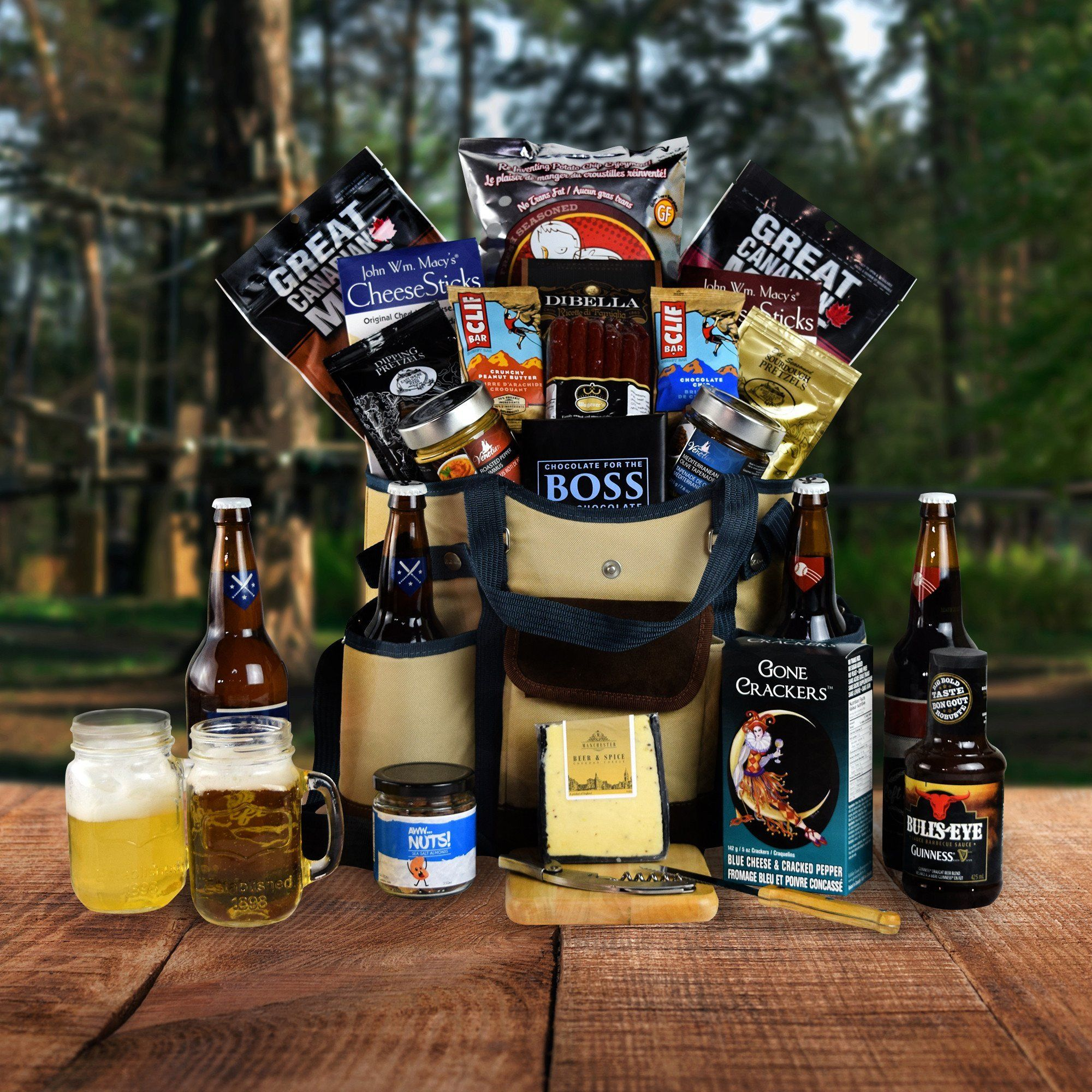 The great outdoors gift basket beer carrier hazeltons usa the great outdoors beer carrier set negle Image collections