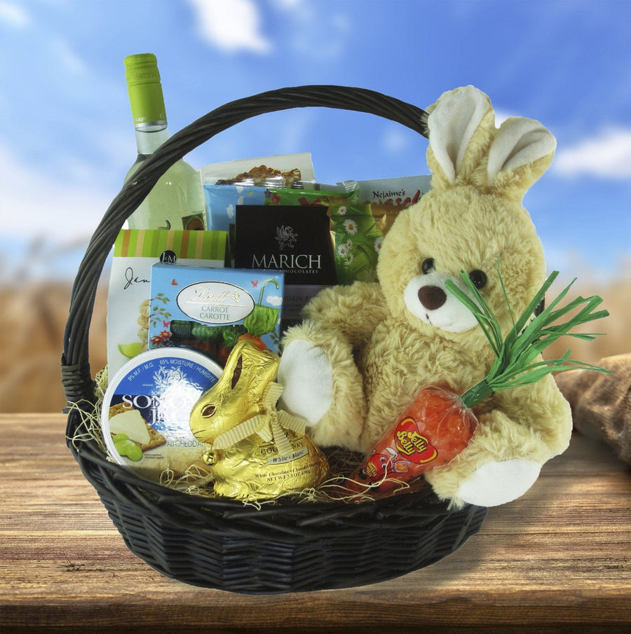 Easter gift baskets just hoppin easter gift basket negle Choice Image