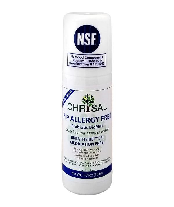 Allergy Free Probiotic BioMist - Highly Effective Convenient Aerosol RTU Spray - Fresh Pine Scent - 50 ml (1.69 oz) (Travel Size)