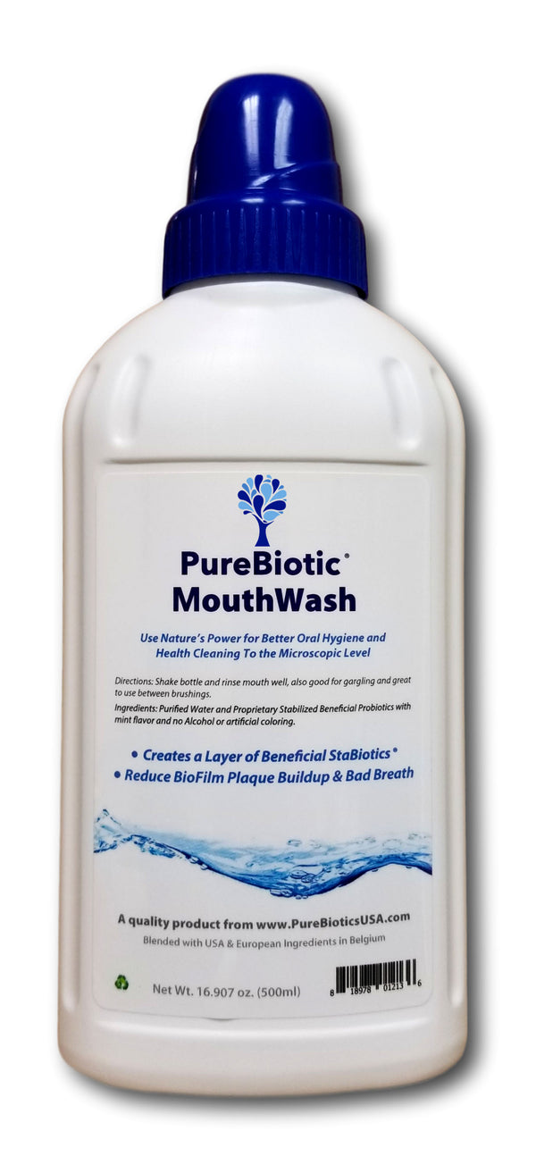 Probiotic Mouth Rinse - Mint Flavor - 500 ml (16.91 fl. oz)