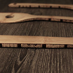 wood burned bamboo spoon utensil set