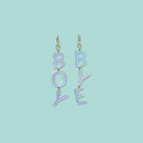 Girl Talk Boy Bye Statement Earrings