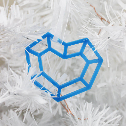 Blue Heart Gem Ornament