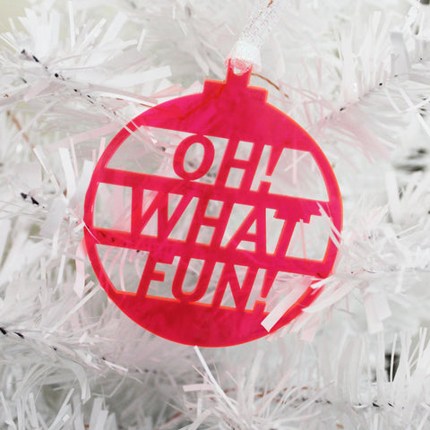 Oh! What Fun! Ornament