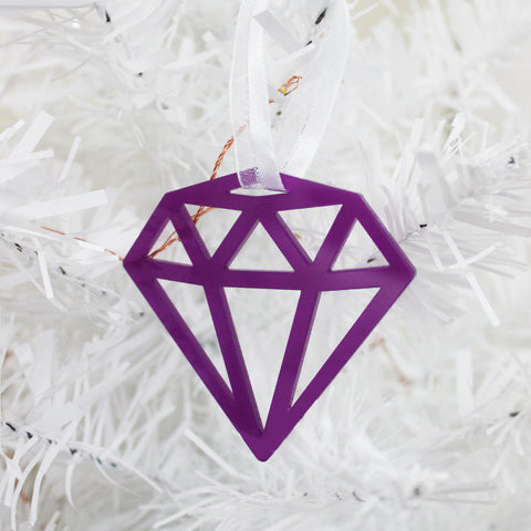Purple Gem Ornament