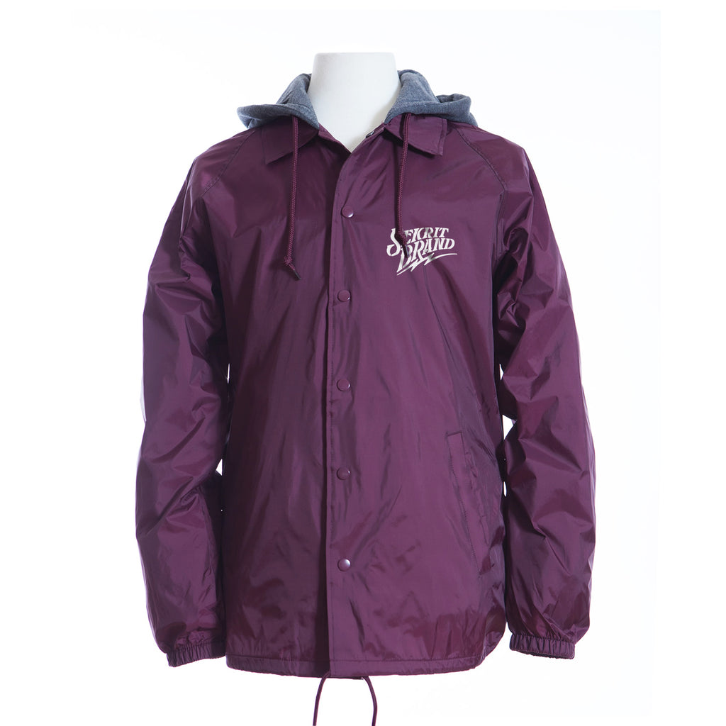 SIGNATURE WINDBREAKER (BURGUNDY)