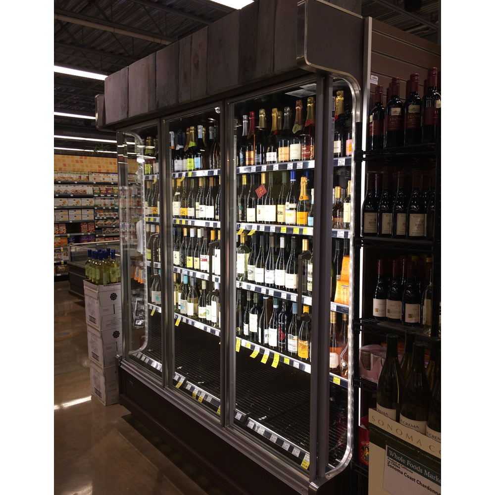 Remis America Glass Door installed at Whole Foods Market similar to Anthony Glass Door system