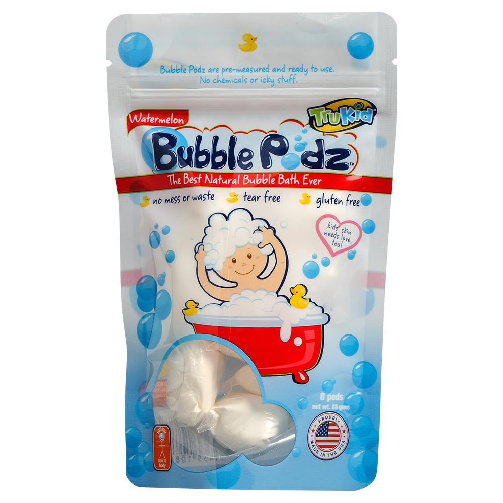 TruKid Bubble Podz,  Watermelon Scented Bubble Bath, 8 Count
