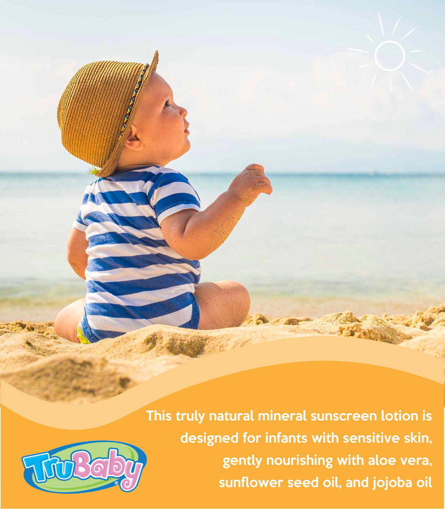TruBaby Sunscreen for Soothing Skin – Water and Play SPF 30 Sunscreen Lotion for Babies – Unscented – Pediatrician and Dermatologist Tested – 2oz. Tube