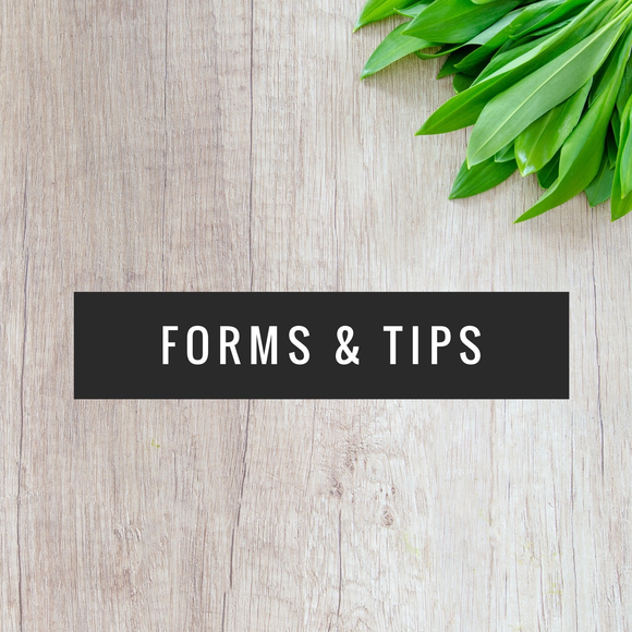Forms & Tips