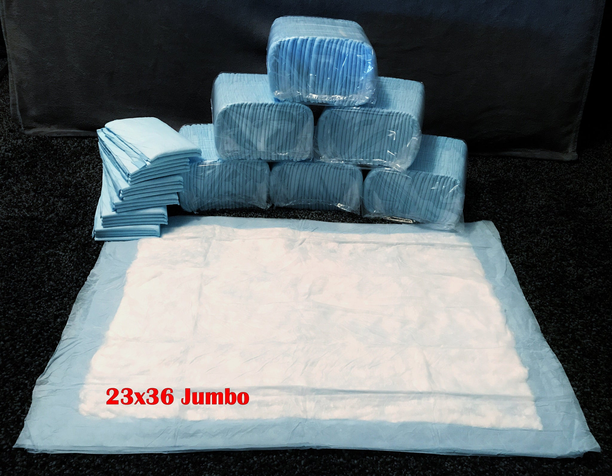 300 Jumbo Size 23x36 Inch Pee Pads - Free Shipping $94.97 - $15 Savings For Bulk Discount