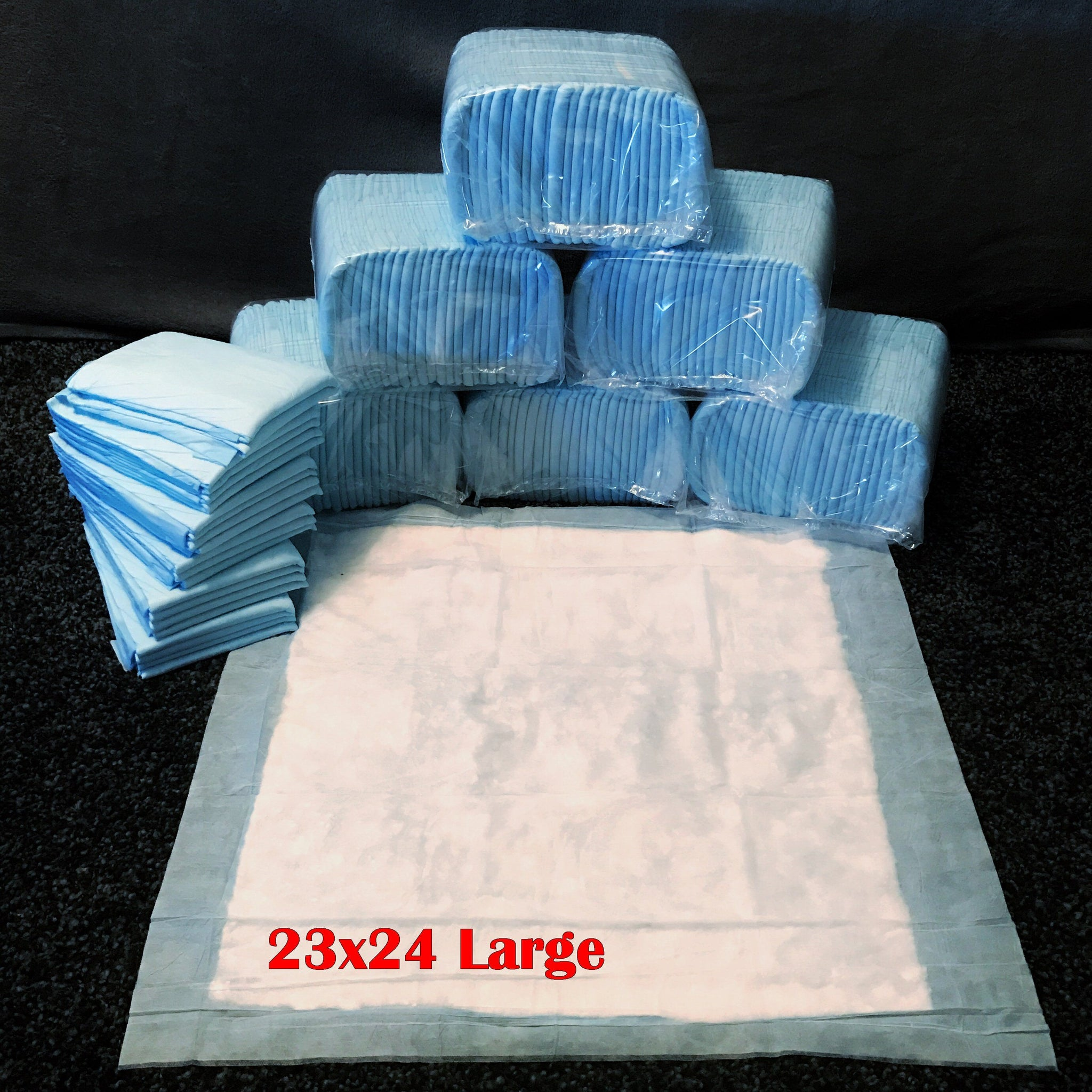 400 Large Size 23x24 In Pee Pads - Free Shipping $99.97 - $10 Savings For Bulk Discount - Pee-Pads.com