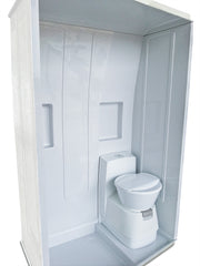 Motorhome Shower Cubicle - front-left-angle - Fiat Ducato & Renault Master - DIY RV Solutions