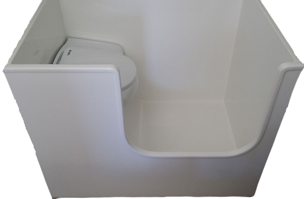 Motorhome Fibreglass Shower - Half Cubicle - Accessories - DIY RV Solutions