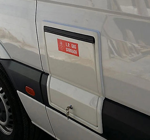 Gas Storage Box - Mercedes Sprinter Post 07 - 2x4Kg - Front & Rear - DIY RV Solutions