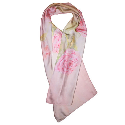 Luxury silk scarf - made in Canada, Lovely roses, La maison de Pascale