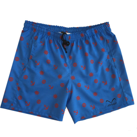Quick dry swimwear trunks in blue, Sailor