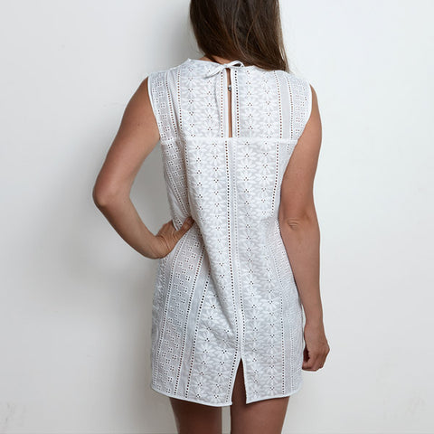 Eyelet Dress, luxury cotton ebroidery