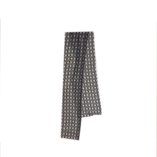 Stylish  scarf with geometric pattern