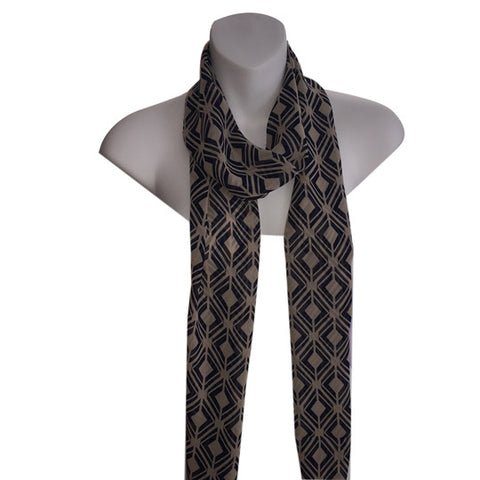 Fashion scarf in brown paisley, La maison de Pascale