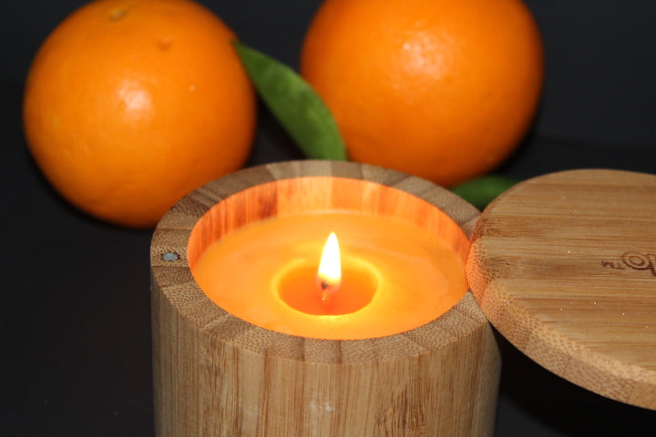 Orange Spice Bamboo Candle - Cece's Sensations