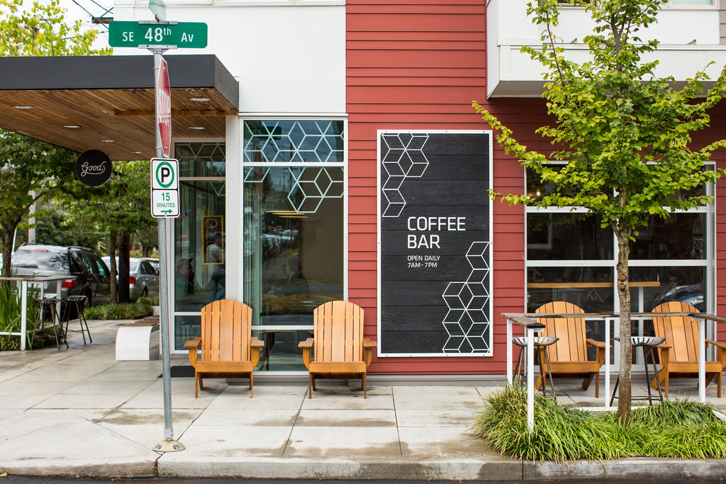 Exterior of Good Coffee on Division Street in Portland