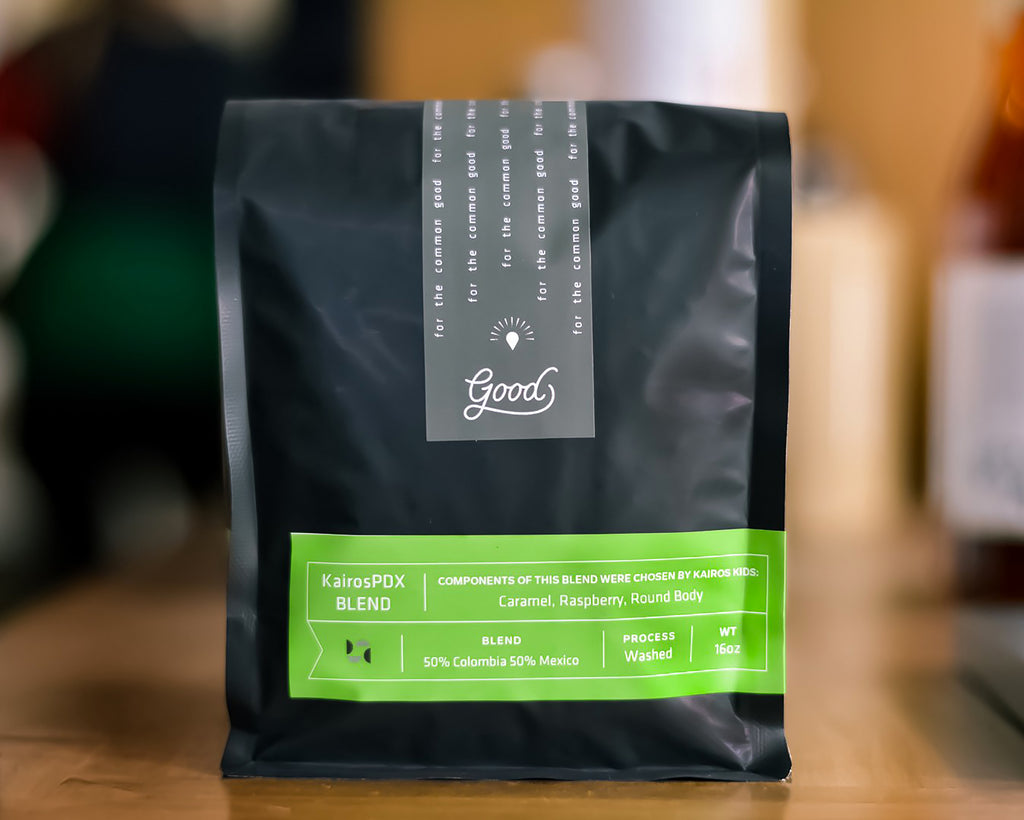 Bag of Kairos PDX Good Coffee