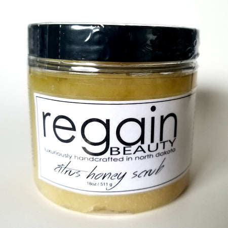 Regain Citrus Honey Scrub - 18oz