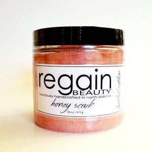 Pink Champagne Honey Scrub - 18oz