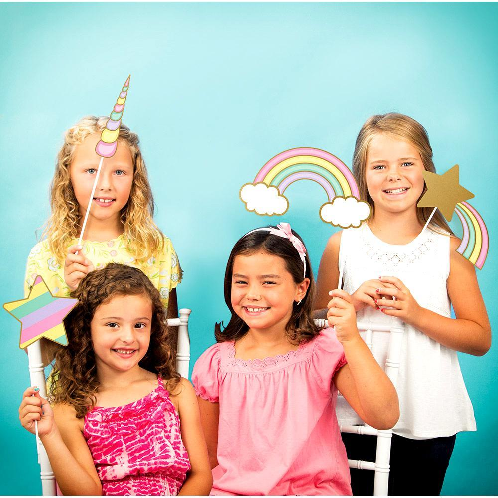 Photo Booth Prop Kit de Unicornio - 10 pzas Disfraces Creative Converting