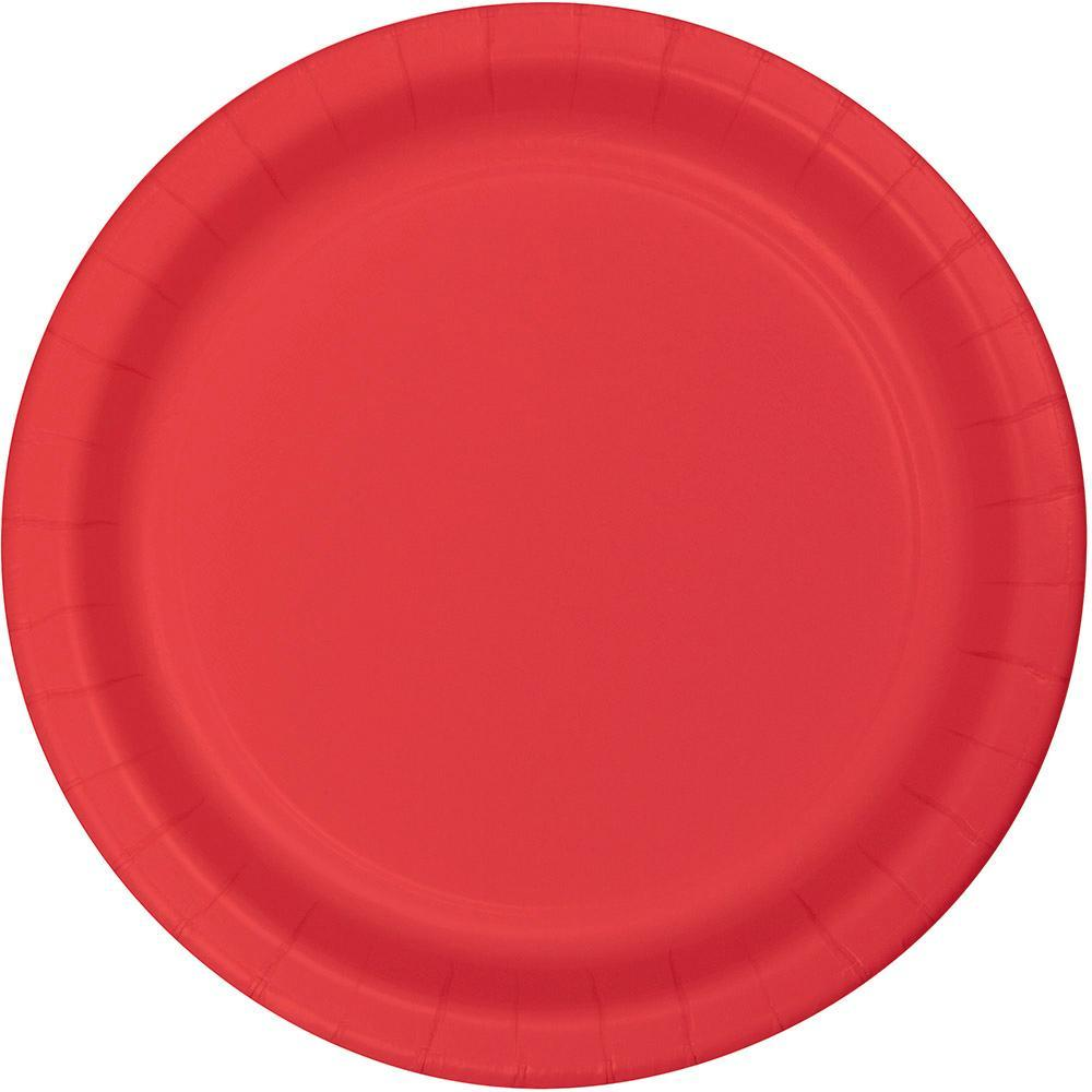 Plato Grande Color Coral - 24 pzas Platos Creative Converting