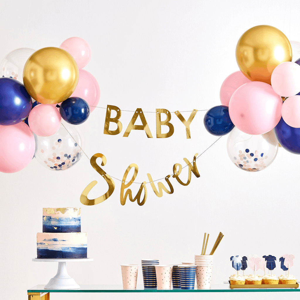 Guirnalda Baby Shower Gender Reveal y Globos - 30 pzas Guirnaldas Ginger Ray