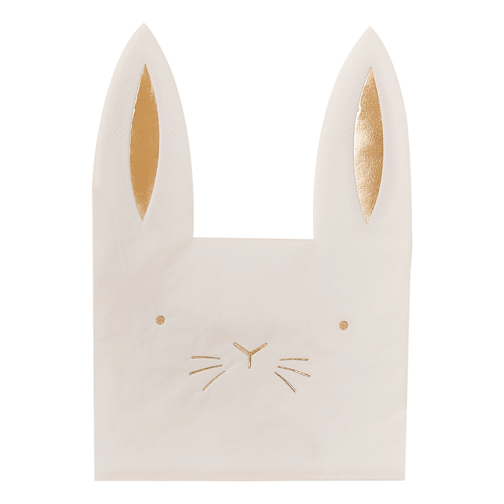 Ginger Ray Servilletas Carrot Crunch -Bunny Napkin - 16 pzas
